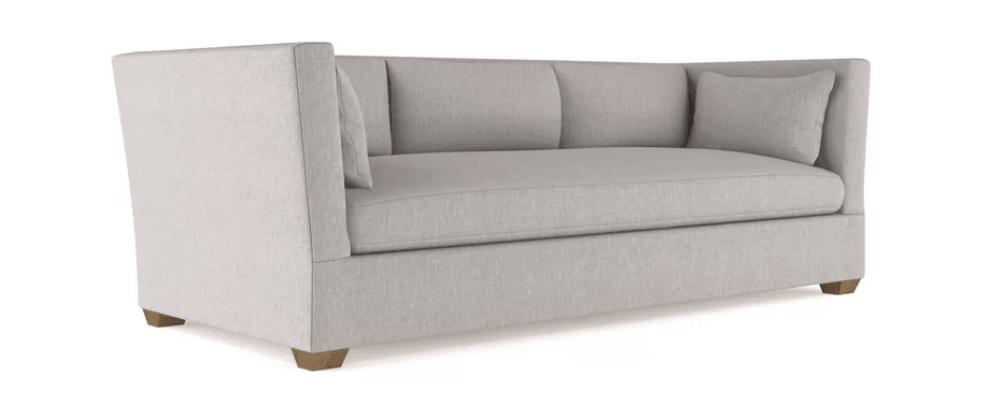 Light gray high arm modern sofa