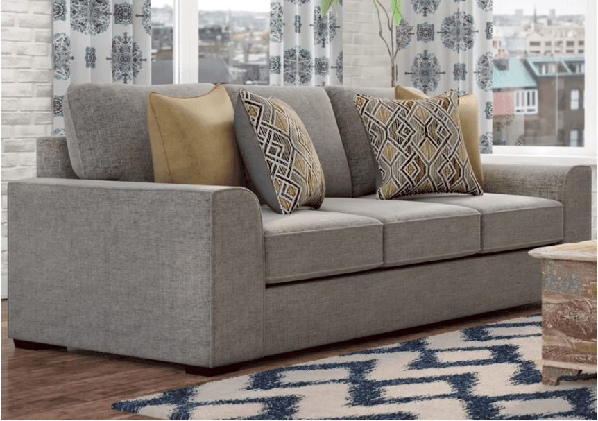 Large comfortable flush sofa with detachable cushions