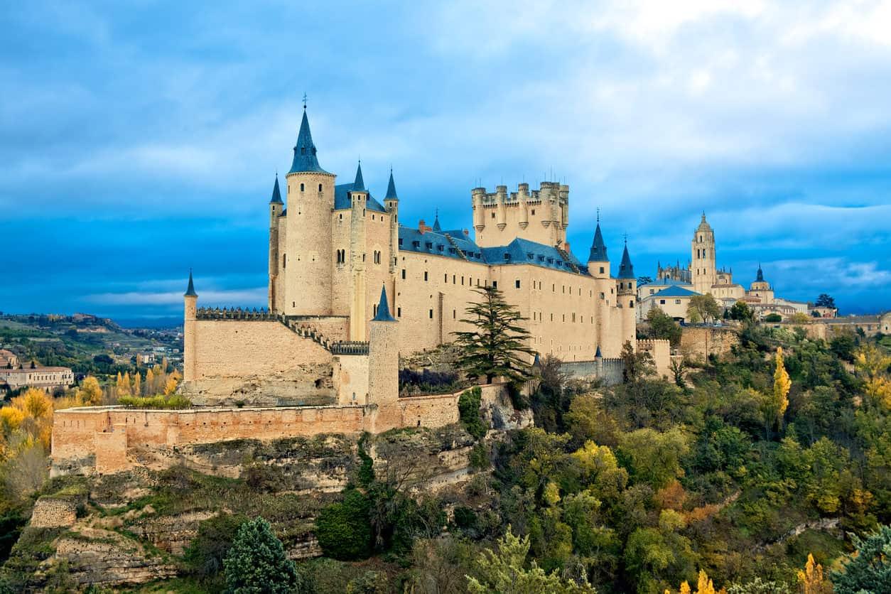 Alcazar Castle in Segovia, Spain