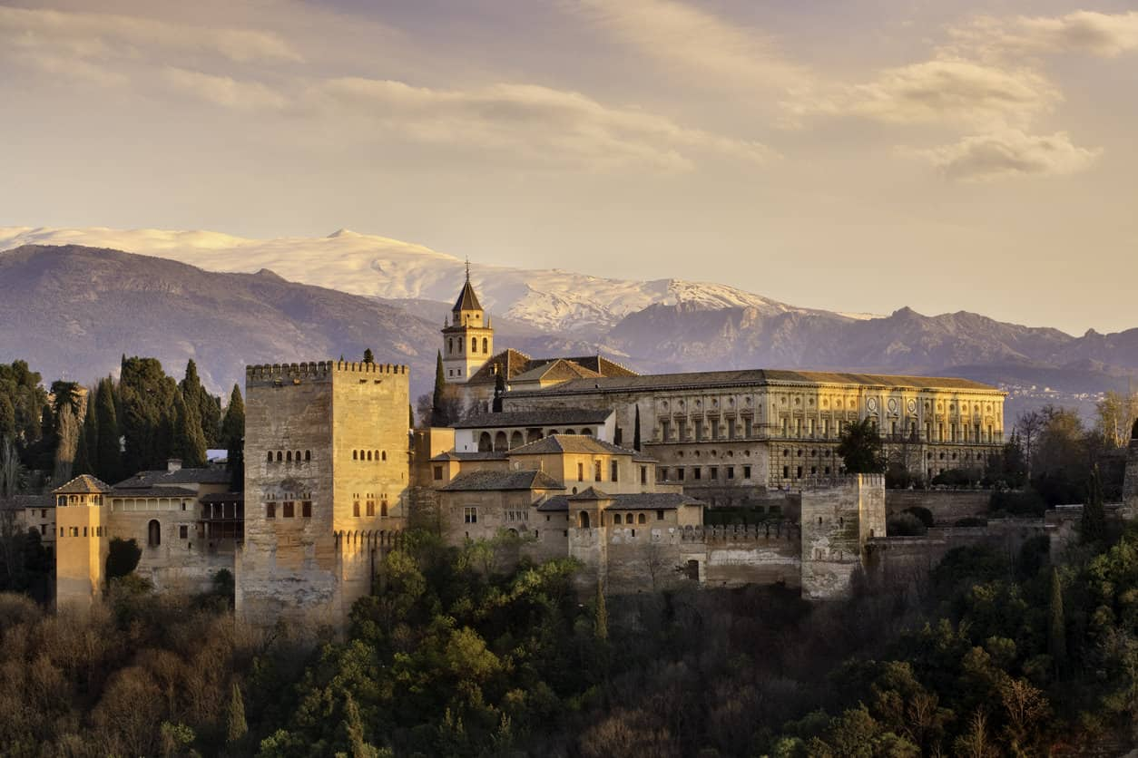 The Alhambra Palace in Spain