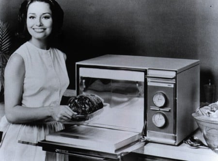 The Amana Radarange microwave oven.