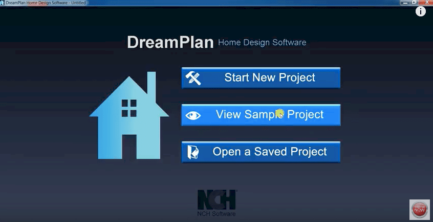 DreamPlan Homescreen