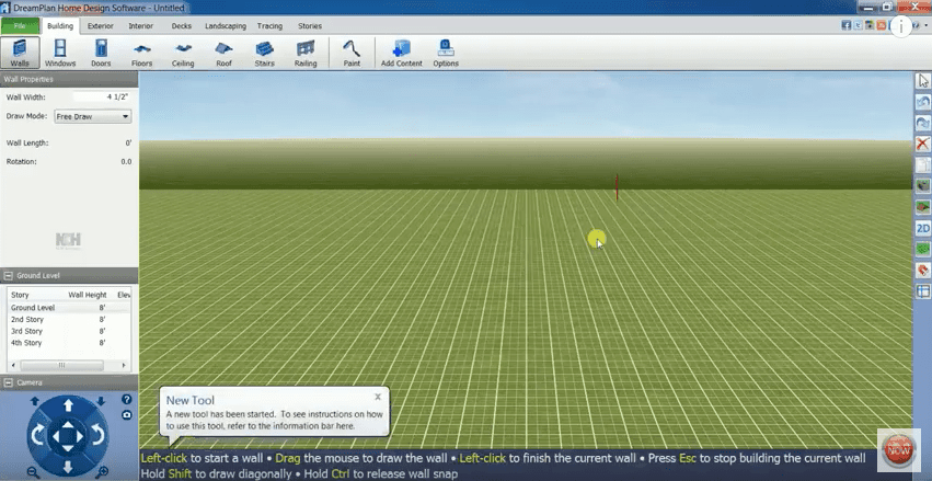 DreamPlan User Interface