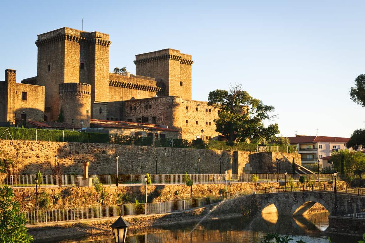 Medieval castle from the fifteenth century at Jarandilla de la Vera