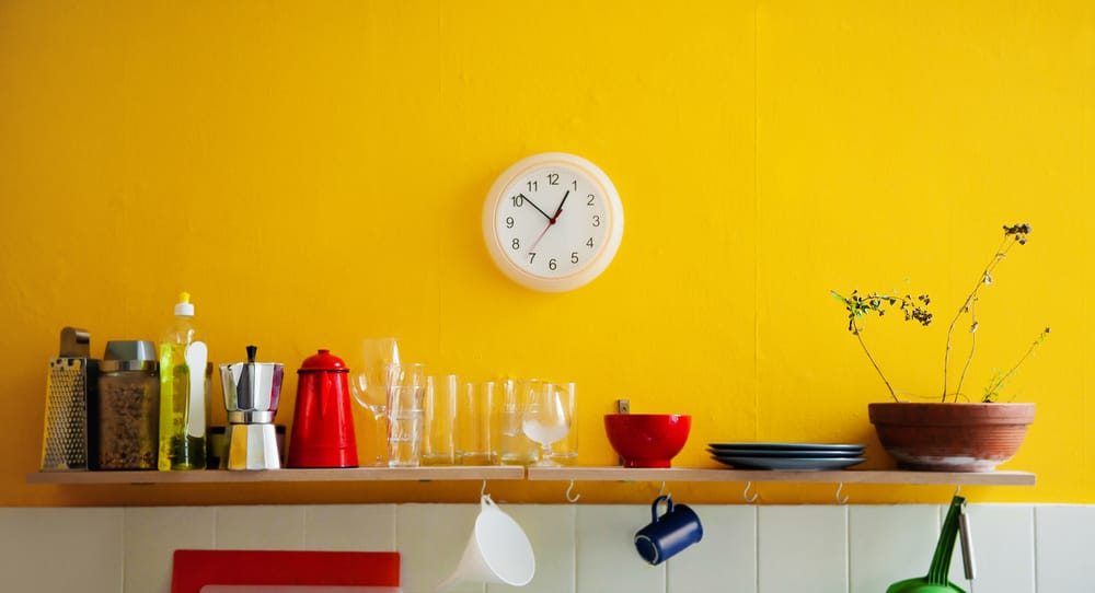 Kitchen clock as wall art