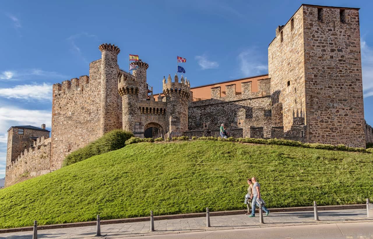 Knights Templar castle in Ponferrada, Spain