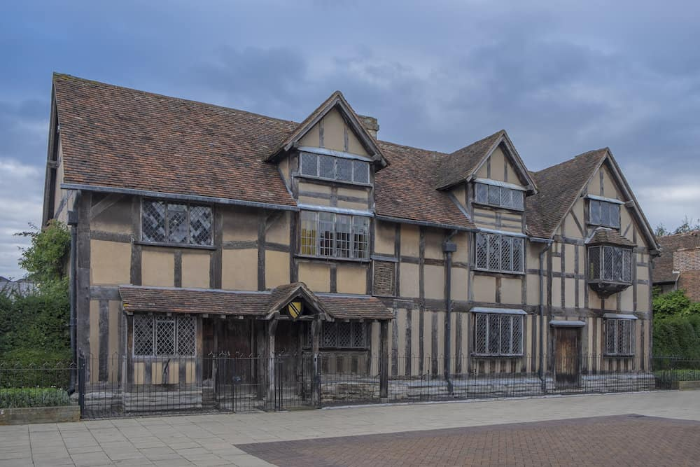 STRATFORD UPON AVON, UK. The house that Shakespeare was born in.