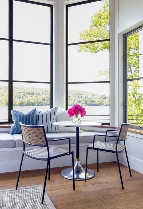 Another living space offering a small round table perfect for a morning coffee. Photo Credit: Raquel Langworthy