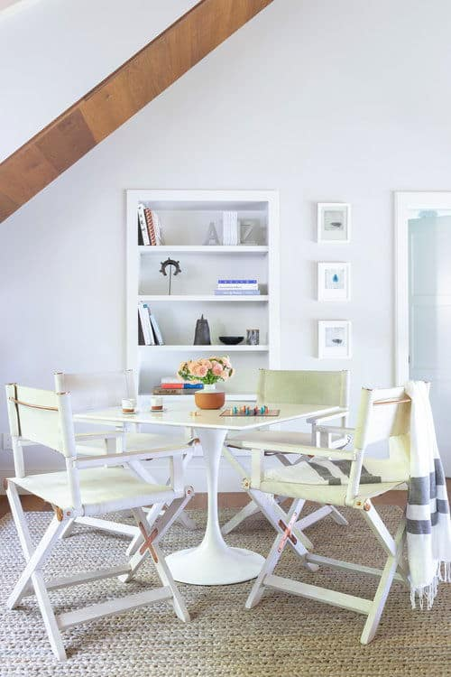Another small dining set on the living space featuring a square four-seated dining table. Photo Credit: Raquel Langworthy