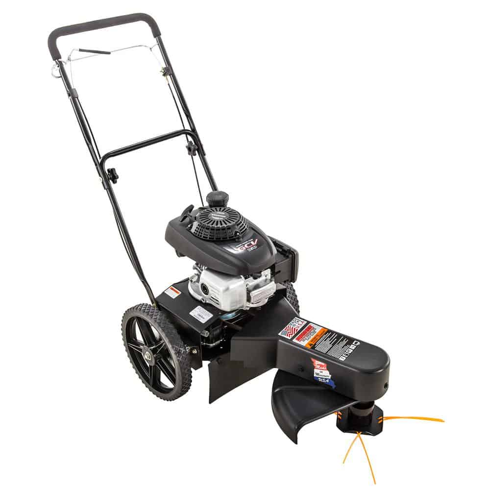 Gas-powered, grass trimmer in Black.