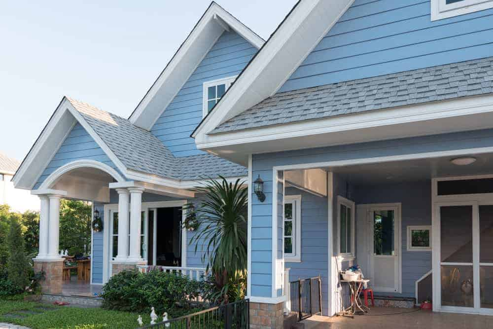 Light Blue Home With Gray Roof Shingles Not My Favorite Shade Of For