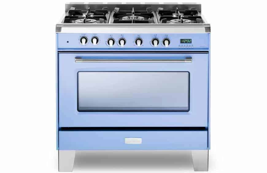 Blue cooktop with LED Display.