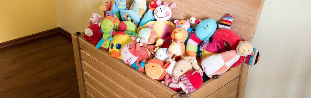A box full of toys.