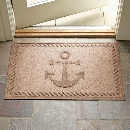 Anti-static mat with an anchor design.