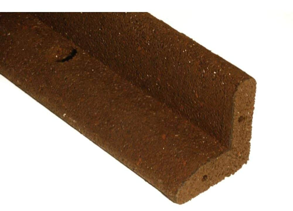 Brown, rubber edging great for lawns.