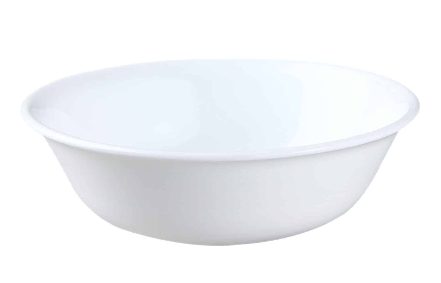 Corelle Winter Frost 6-pack white cereal bowl is made of Corelle triple-layer glass, which is break and chip resistant, lightweight, and easily stackable for space saving.