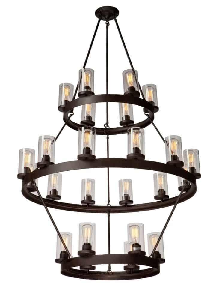 24 lights stylish chandelier.
