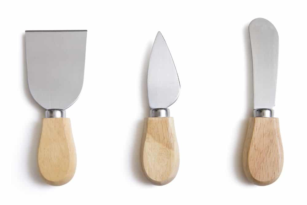 Set of cheese knives