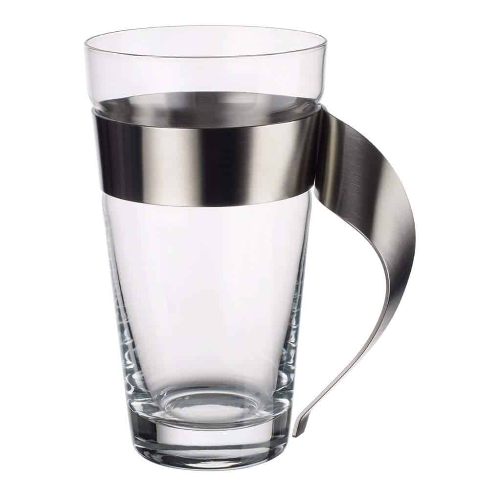 New wave coffee glass with handle.