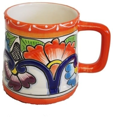 Talavera style coffee mug.