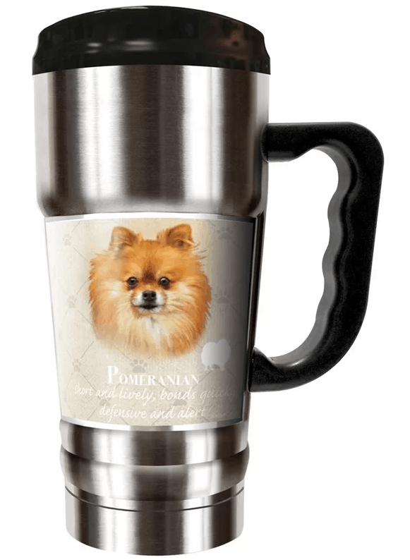 Pomeranian 20 oz. insulated coffee tumbler.