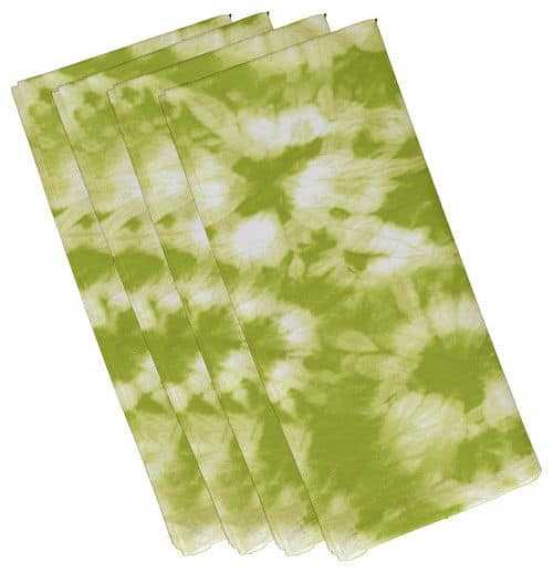 Contemporary green colored napkins.