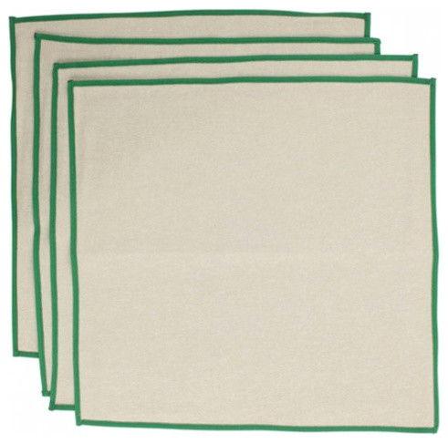 Contemporary jute napkins.