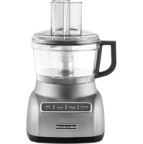 Food processor with double feed tube.