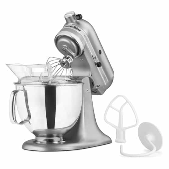 Contour silver mixer looking all sleek and smooth.
