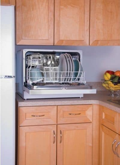 A countertop dishwasher.