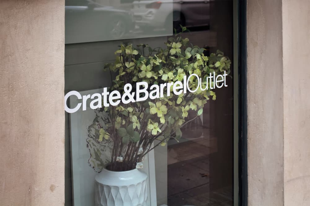 Crate&Barrel store window in Istanbul, Turkey.