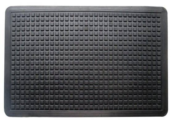 Dark gray anti-fatigue mat for homes and offices.