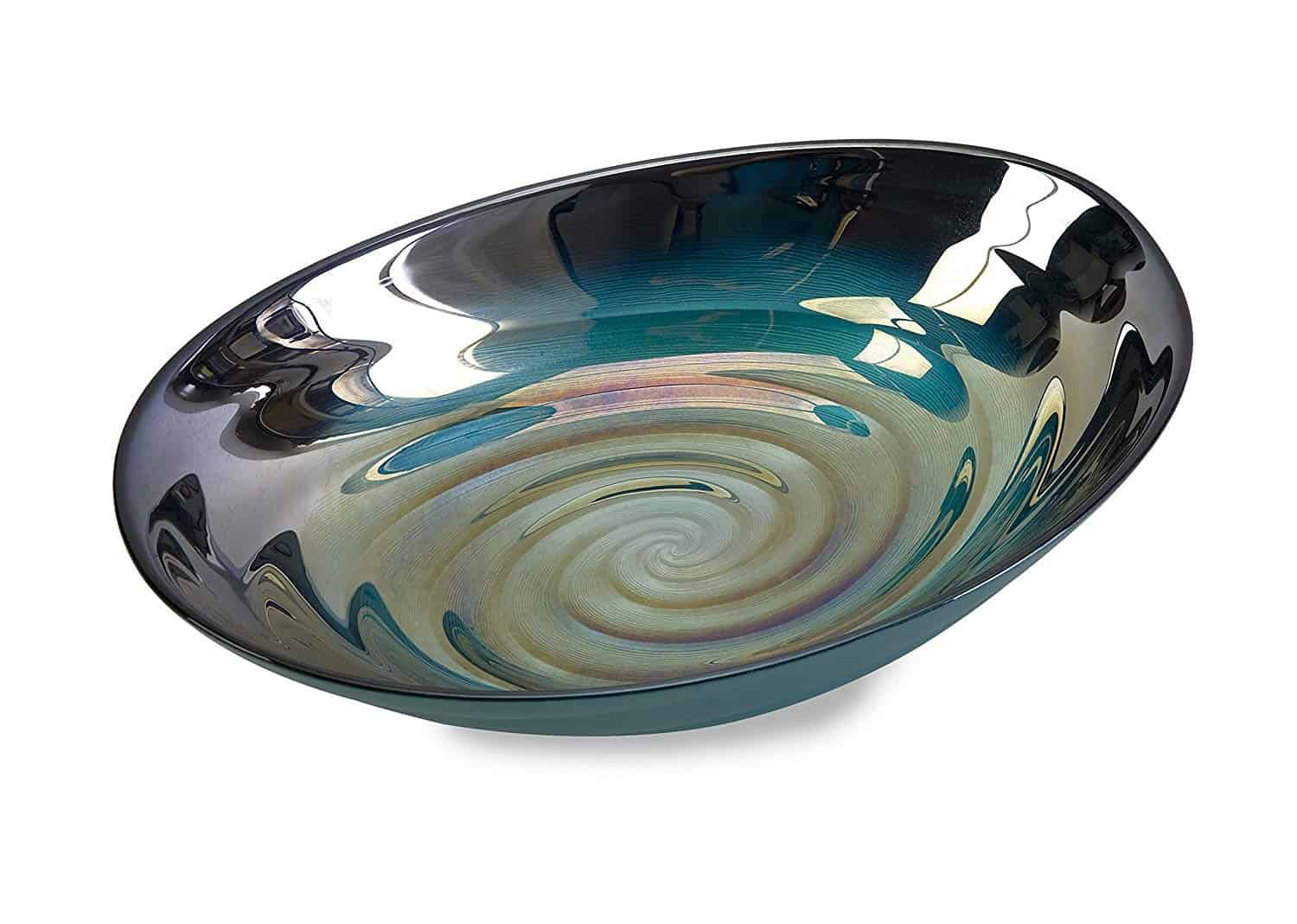 This beautiful food safe bowl is reminiscent of the inside of a shell, which may have housed a pearl once upon a time and it's sure to become a treasured accent in your home collection.