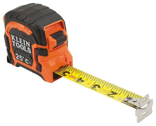 Klein 25' magnetic double hook tape measure.