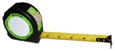 Fastcap Fastpad standard reverse measuring tape with a heavy-duty protective rubber boot.