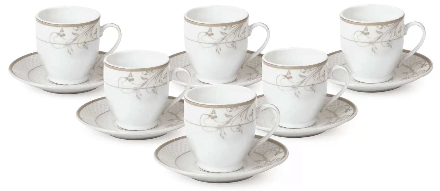 Espresso cup and saucer set.