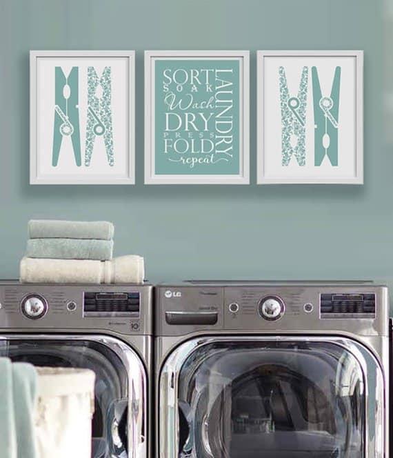 Bath/laundry wall art