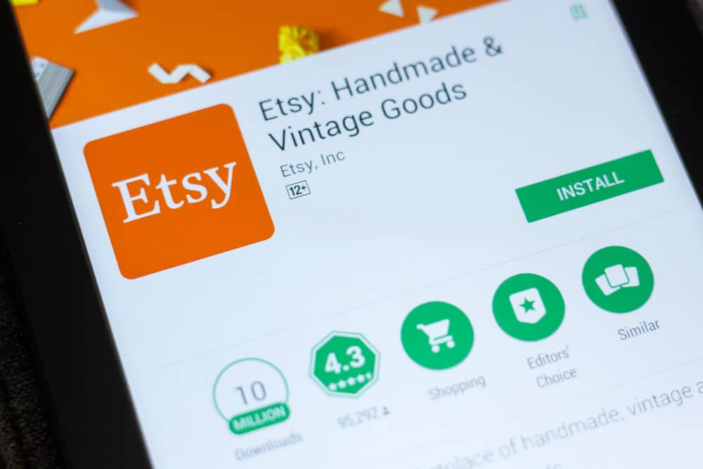 Etsy's mobile app homepage