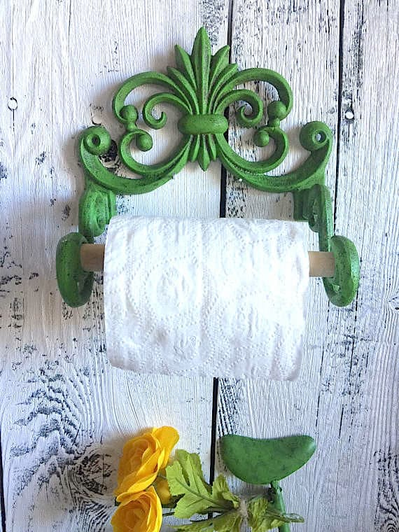 Painted toilet paper holder