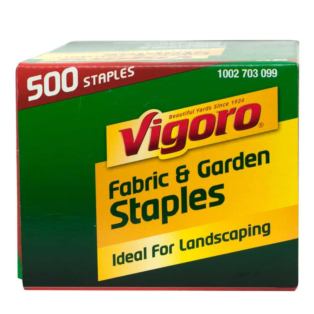 Fabric edging with staples perfect for lawns and landscapes.