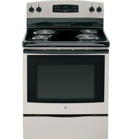 Free standing coil cooktop.