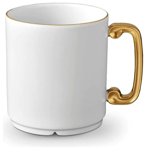 Gold plated coffee mug.