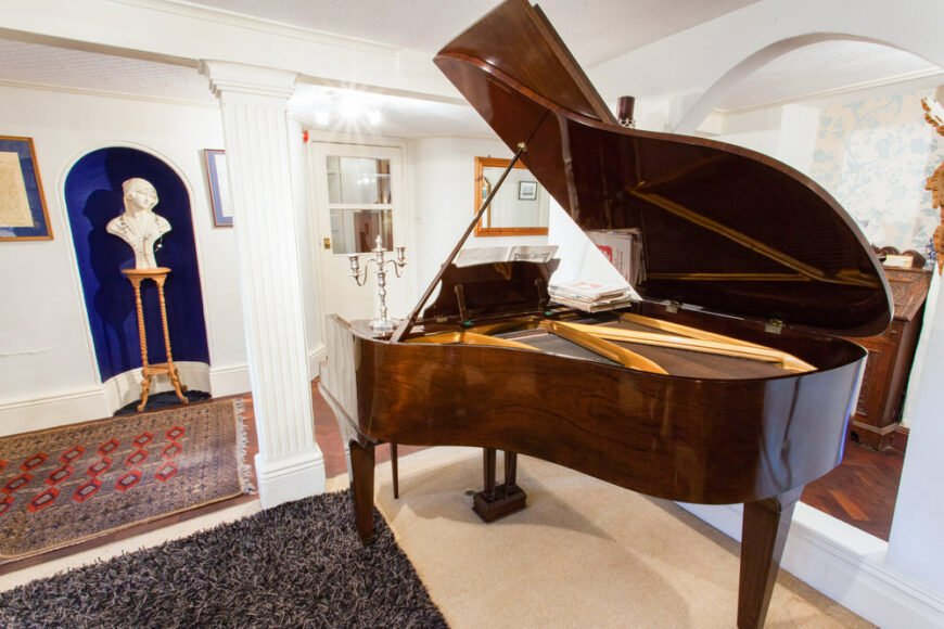 Grand piano in the living room