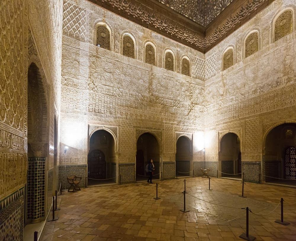 Hall of the Ambassadors, Salon de los Embajadores at Royal complex of Alhambra, Granada, Spain.