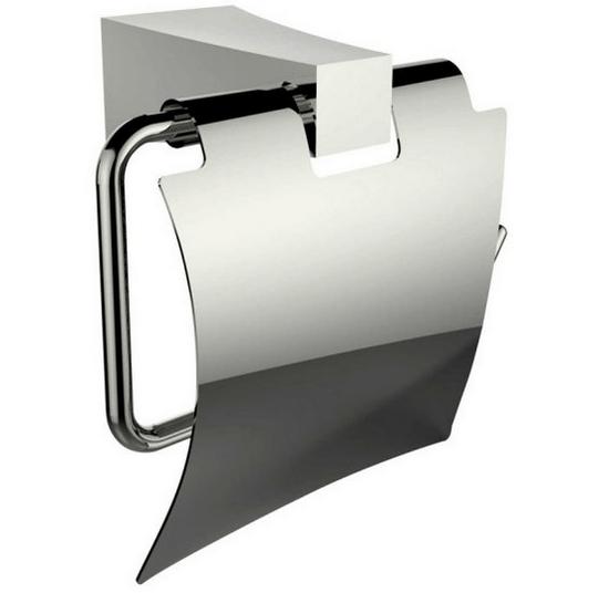 Flap toilet paper holder