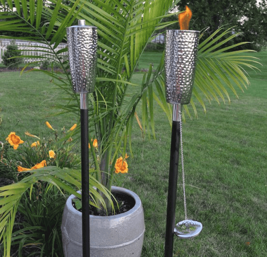 Ground patio torch