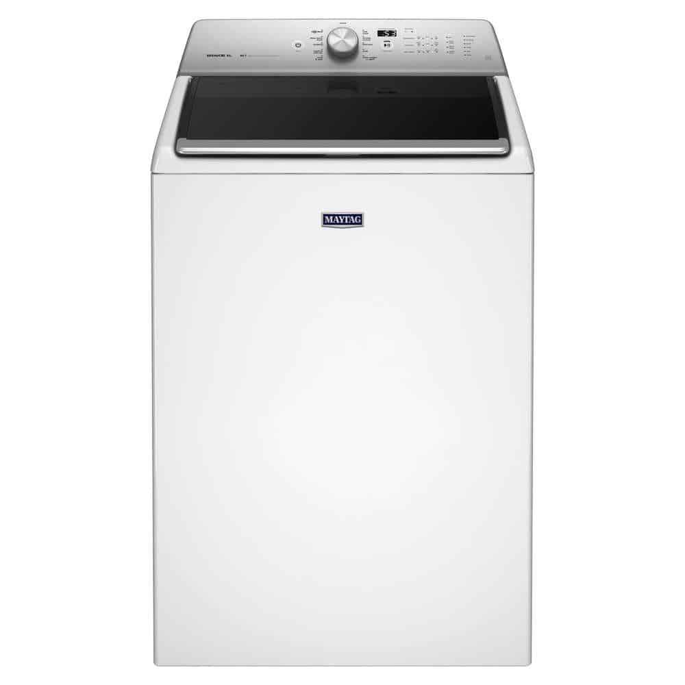 Washing machine with soft close lid