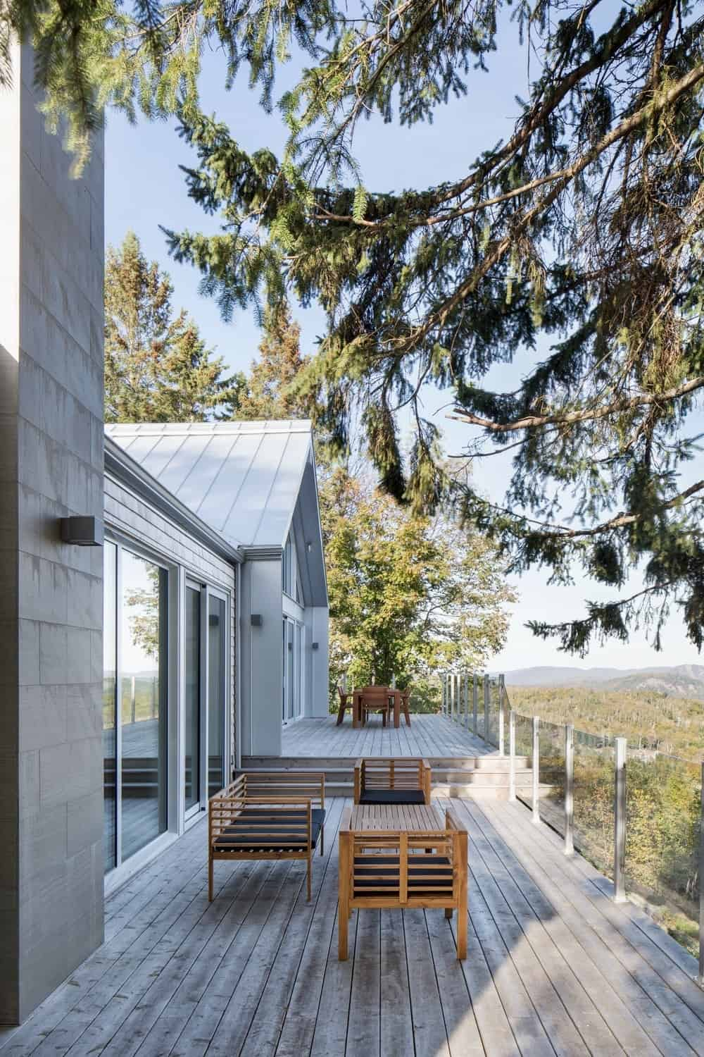 The outdoor features a deck providing space for a patio. Photo credit: Adrien Williams