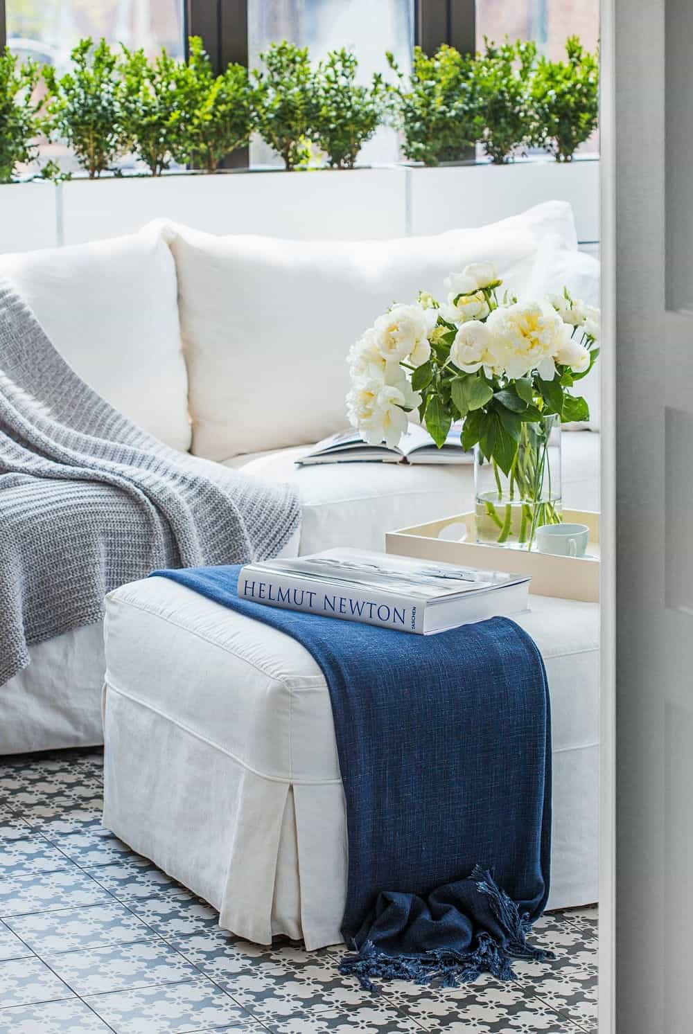 Close up look of the comfy sofa set in the garden's living space. Photo credit: Erik Rotter