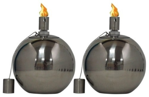Spherical patio torch